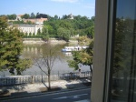 ... and Vltava River /view from piano-classroom/